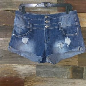 Almost famous high waisted cutoff jean shorts 13
